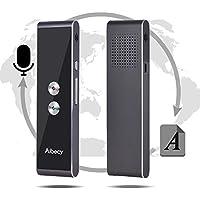 Aibecy Traductor multilingüe en tiempo real Dispositivo de traducción de voz/texto con APP para viajes de negocios Compras Inglés Chino Francés Español Japonés Árabe