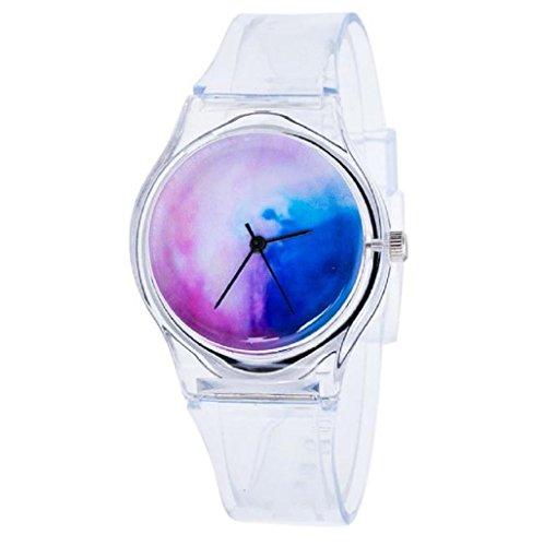 Sannysis Jalea de gel de silicona de cuarzo analógico Deportes Mujeres reloj de pulsera (04)