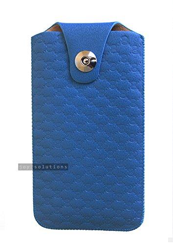 [Blu ] Elegante effetto pelle Linguetta custodia in caso di tirare la cinghia per LG V10 in esclusiva per le soluzioni di gioia