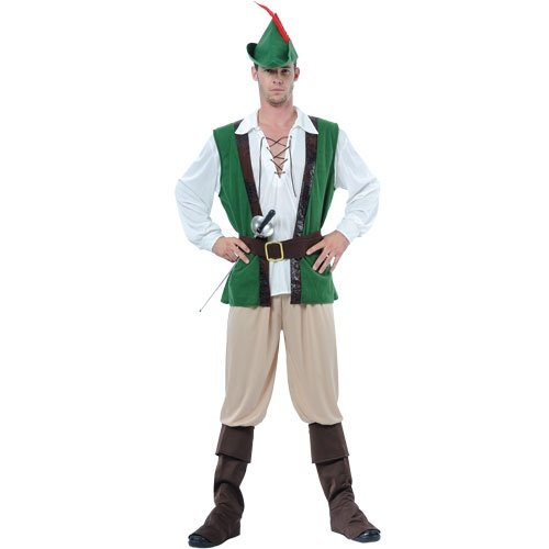 Robin Hood Verkleidung für Männer Halloween Party Fasching Karneval Kostüm M