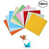 BJ-SHOP Origami,Papel Origami 100 Hojas de Doble Cara 15CM de Papel para decoracišn...