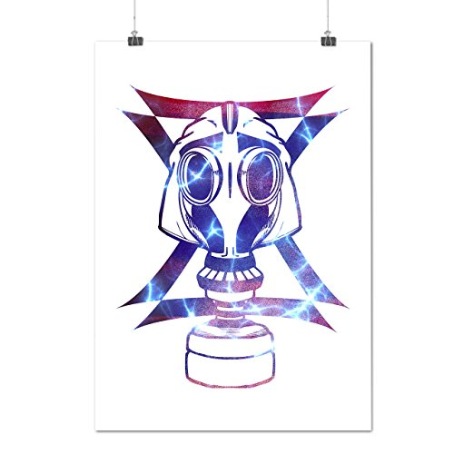 Gas Maske Abstrakt Mode Verkleidung Gesicht Mattes/Glänzende Plakat A3 (42cm x 30cm) | Wellcoda (Billig Gas Maske)