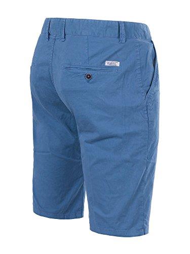 M430 FOREX Herren Bermuda Stoffhose kurze Hose Cargo Shorts Clubwear Bermudas Blau