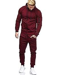 c7116185e0 Sweat-Shirt à glissière d'automne pour Homme Top Pantalons Ensembles Sports  Survêtement Costume