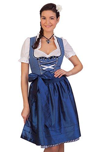 Trachten Mididirndl 2tlg. - RIEKE - 49906 - blau, rot, Größe 30