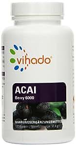 Vihado Berry MAX 6000 Premium - Original Acai Beeren, 120 Kapseln, 1er Pack (1 x 98 g)