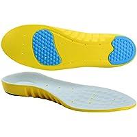 SOUMIT SPORT Schuheinlagen | Anti-Schock PU Schuhe Pad, Original Beruf Fußbett mit Silikon-Gel Fersenschutz (Unisex Erwachsene, L EU42-45 Länge: 29,2CM)