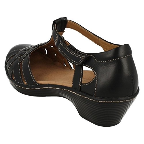 Clarks Sandali con tacco donna Wendy Loras Black Leather