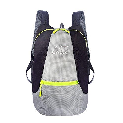 (Tecpack 25L Faltbarer Rucksack, Trekkingrucksack für Männer, Frauen und Kinder, Reiserucksack, Tagesrucksack, Handgepäck Ideal für Outdoor Wandern Camping Reisen Trekking)