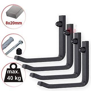 4U® 4X Wand Reifenhalter 40kg (8x20mm) Felgenbaum Reifenregal Reifen Felgen Wandhalterung Wandhalter