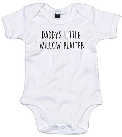 Saule plaiter personnalisée Body bébé nouveau-né Body n'importe quelle couleur et taille pour fille ou garçon Blanc blanc 12-18
