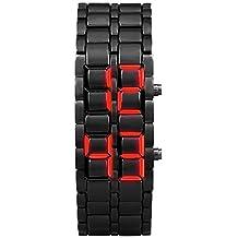 VEHOME Relojes Inteligentes relojero Reloj reloje hombresRelojes de Pulsera Marcas Deportivos-New Iron Samurai Metal