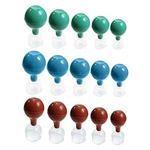 Waspde 5 Teiliges Set Schrpfen Gummiball Vakuum Schrpfen Gummiball Glas Schrpfen Ball Universal Pumpball Nachricht Vakuum Saug Schrpfen Set