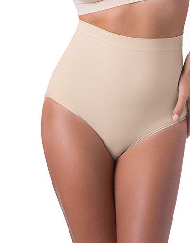 Mutande Contenitive Per Donna | Culotte Slip Modellante A Vita Alta | Bianco, Nero, Naturale | S, M, L, Xl, Xxl | Made In Italy | Nero