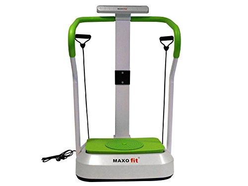 MAXOfit® Multi Vibrationsplatte MF-26 | Ganzkörper Vibrationsgerät Für Zuhause | mit Haltegriff, Trainings-Bändern, Lautsprecher und AUX-Anschluss Für MP3-Player Handy