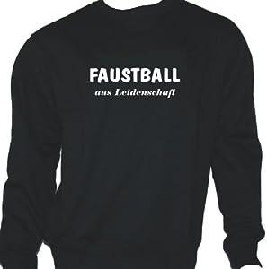 Faustball aus Leidenschaft; Sweatshirt schwarz, Gr. M