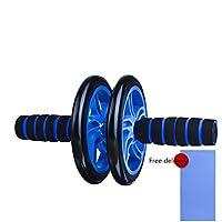 ZHANGYUSEN Nueva sin Ruido Rueda Abdominal AB Roller con la Alfombra para Hacer Ejercicio en el Gimnasio con Equipamiento de Fitness Accesorios Fitness Equipo formador Muscular,Azul