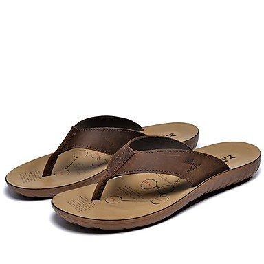 Uomo Slippers & Primavera Estate Autunno Comfort pelle bovina Outdoor ufficio & carriera Abito casuale L Sa sandali US10 / EU43 / UK9 / CN44