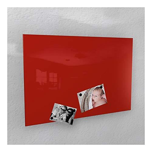 Colours-Manufaktur Magnettafel, Rot, Hochglanz, RAL 3020, rot - RAL 3020 glänzend, 60 x 90 cm