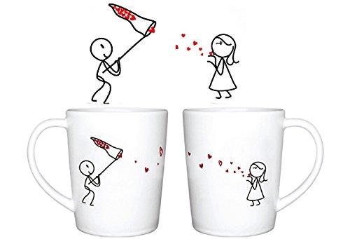 Human touch, amore bacio catcher tazza (2 tazze)