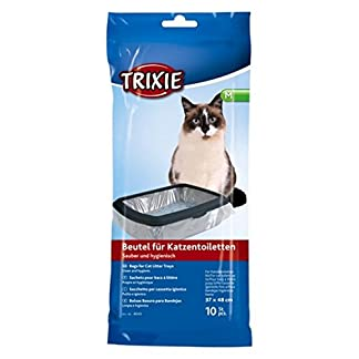 Cat Litter Tray Bag Size M for Toilets up to 37×48 cm, Pack of 10 41bTnY 2B4AHL