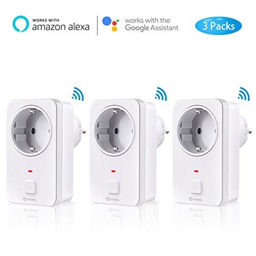 [3 Pack] Smart Steckdose COOSA wifi alexa Plug funktioniert mit Alexa [Echo, Echo Dot] und Google...