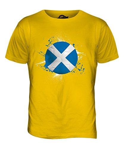 CandyMix Schottland Fußball Herren T Shirt Dunkelgelb