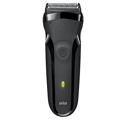 Braun Series 3 300s Rechargeable Electric Foil Shaver/Stubble Shaver for Men Face, Black