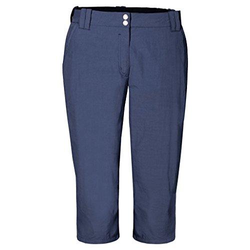 Jack Wolfskin Damen Hose Kalahari 3/4 Pants W, Blue Indigo, 38, 1503301-1096038 (Bein, Flat Front Hose)