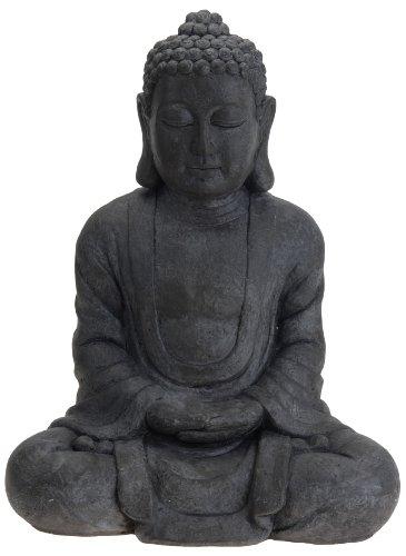 Meditierender Buddha 38cm grau Statue Figur Skulptur