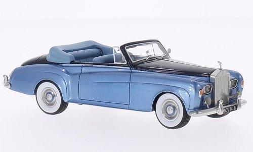 rolls-royce-plateado-nube-iii-dhc-metlico-hellblau-metlico-azul-oscuro-rhd-1964-modelo-de-auto-model
