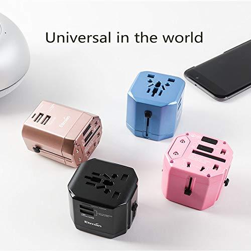 AYAH Global Universal Power Universal-Umwandlungsstecker Konverter nach europäischem Standard,Blue - Besten Decken-lautsprecher