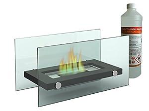 Eine sichere, dekorative Idee für reine Gemütlichkeit bietet dieser wunderschöne Tischkamin (inkl. 1 Liter Bioethanol) mit einem Gehäuse aus Metall und Sicherheitsglas. Schaffen Sie mit diesem Bio Ethanol Kamin eine gemütliche, intime Atmosphäre in I...