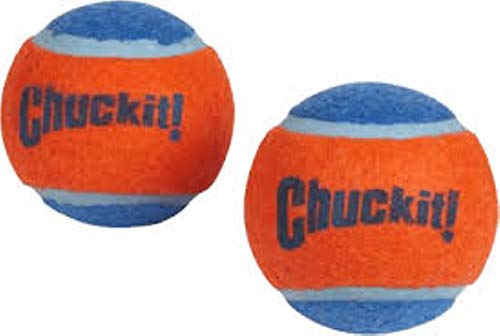 Chuckit 07101 Tennis ball Small, 2 Hundebälle kompatibel mit ballwerfer, S