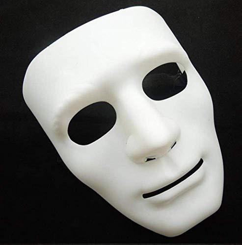 Halloween Mask Masquerade Dress Up Maske Junge Hip-Hop Tanz Requisiten Ball Party Kostüm Masken Cosplay Scary Solid Full Face Für - Kostüm Ball Dress Up Spiele