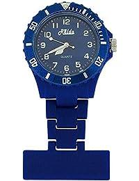 Relda Unisex Blue Rotating Bezel Rubberised Nurses Fob Watch Rel21