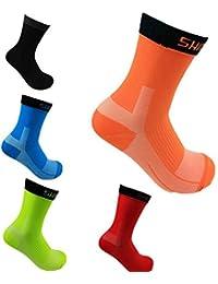 Beydodo 5 Par de Calcetines Largo Calcetines Running Calcetines Futbol Hombre 5Par Colorido Calcetines Deporte Calcetines