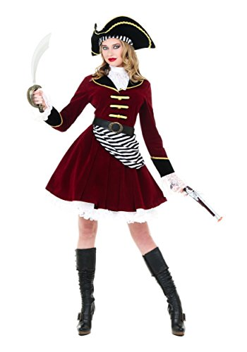 Women's Captain Hook Fancy dress costume with Hat X-Large