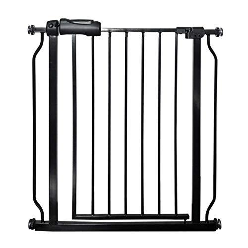 Barrière de sécurité Porte supplémentaire Large d'animal familier de Porte pour la barrière de bébé de Chats Chats pour Le Couloir d'escalier de Portes, Noir (Taille : 134-145.9cm)