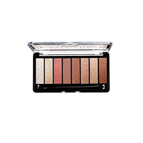 Zarupeng 8 Farben Lidschatten-Creme Augenschminke Make-Up Eyeshadow Palette Wasserdichtes Augen-Schatten Set (One Size, D)