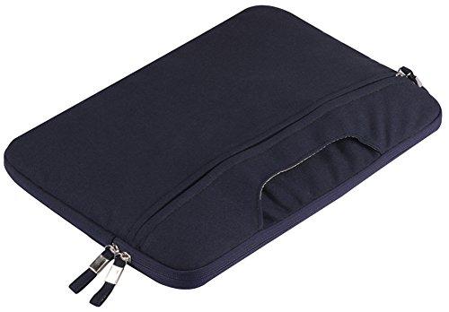 YiJee Tela Custodia Borsa Ventiquattrore Cartella Involucro Sleeve Case per Computer Portatile / Macbook Pro Air da 11-15 Pollici 11 Inch Navy
