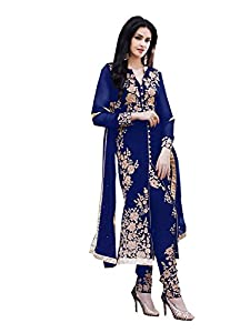 Salwar Kameez ( SM_155_Blue ) - Blue Wash Care : The Dry clean is recommended
