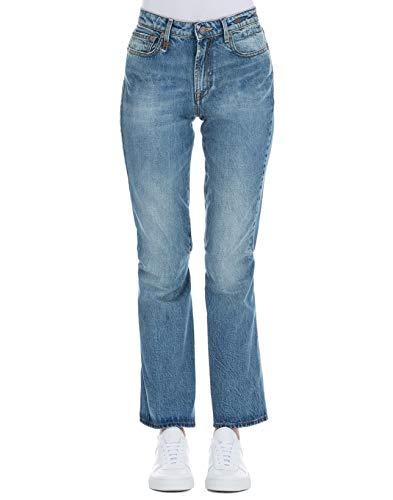 R13 Femme R13W0405157 Bleu Claire Coton Jeans R13