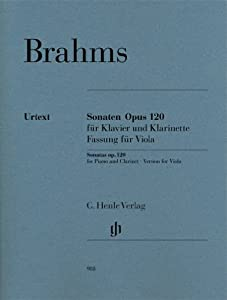 Sonatas for Piano and Clarinet, op.120 - Edition for Viola - revised edition, with marked and unmarked string part - viola & piano - (HN 988)