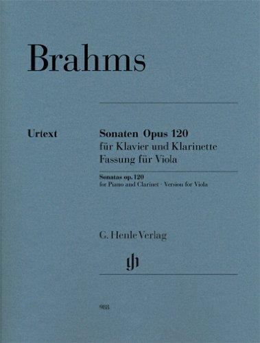 Preisvergleich Produktbild Sonaten Opus 120 für Klavier und Klarinette: Fassung für Viola