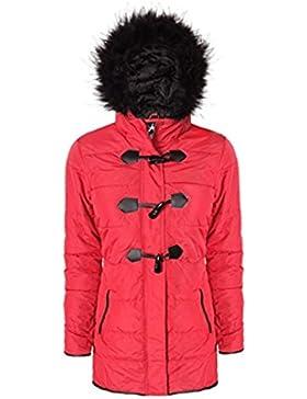Ladies EX High Street con capucha de piel Parka abrigo de invierno