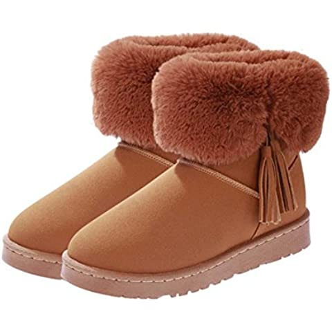 SHIXR Signore inverno nuova piattaforma streaming Su Maomao manica stivali e stivali da neve caldo (10 Anatre Piccolo Gomma)