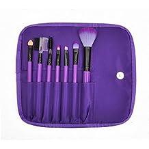 7Pcs Cepillo de maquillaje Set Herramientas Foundation marca de lana de maquillaje Neceser, Maquillaje Blush Brush Set con funda