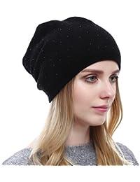 YAANCUN Inverno Donna Punto D onda Caldo Cappello in Maglia Donna Moda  Beanie Invernale Cappelli f4321614f37a