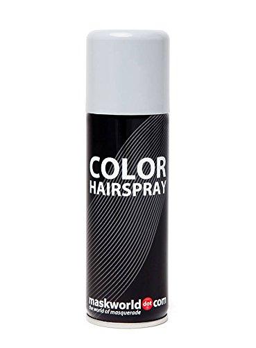 Maskworld Color Hairspray - farbiges Haarspray bunt Colorspray (Grau) (Grau Halloween Haarspray)